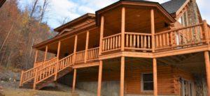 Log off for the weekendin this Katahdin Cedar Log Home