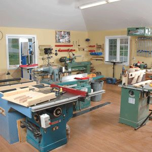 woodshop hobby room